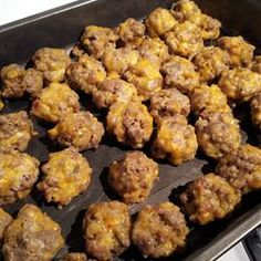Easy Sausage Cheese Balls.... This was a standard Christmas appetizer when I was growing up... Brings back so many memories!!!