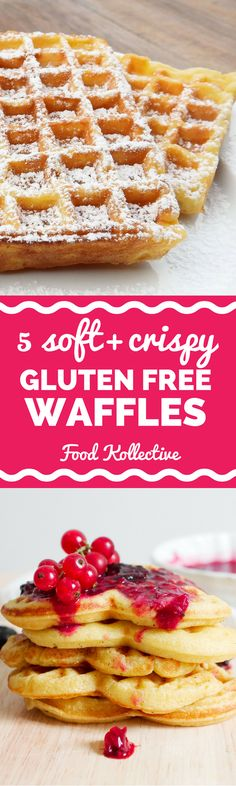 I was looking for gluten free waffles and these look tasty! There are recipes for gluten free belgian waffles, gluten free blueberry waffles, and gluten free buckwheat waffles. These would be perfect for breakfast, brunch, or a birthday morning. Collected on FoodKollective.com