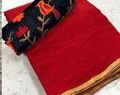 Pure Satin Silk Designer Saree LEAF Printed Girlish Sari With Golden Plain Unstitched Blouse Fabric Dress Material Christmas Party Wear, Saree Floral, Wedding Embroidery, Plain Saree, Kanchipuram Saree, Anarkali Dress, Red Fabric, Beautiful Saree, Saree Wedding