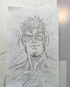 Flash Wally West by V Ken Marion #dcrebirth ! #wallywest #flashfriday #dcuniverse #dccomics #vkenmarion #vkenmarionart #warmupsketch Comic Kunst, Comic Art, Comic Books, Boy Drawing, Comic Drawing, Art Sketches, Art Drawings, Pencil Drawings, Flash Sketch