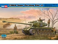 The Hobby Boss T26E4 Super Pershing Pilot No.1 in 1/35 scale from the plastic tank model range accurately recreates the real life experimental version of the US heavy tank. This plastic tank kit requires paint and glue to complete.