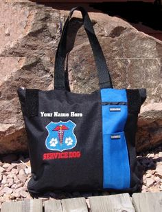 Service Dog Gear - Service Dog & Therapy Dog Zip Top Tote