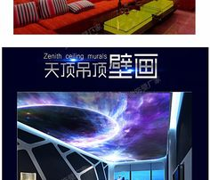 Online Shop Free shipping KTV bar, a large mural of the universe Star Galaxy stereoscopic 3D wallpaper cool backdrop Ceiling Custom Size | Aliexpress Mobile