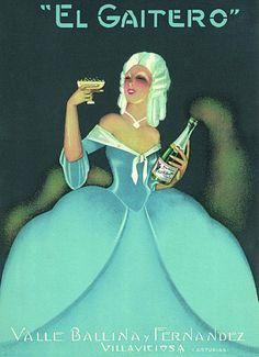 Anuncio de 1920 de la sidra champagne EL GAITERO, de Villaviciosa