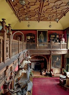 the great hall, Kinloch Castle, Isle of Rum. Architectural Digest