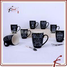 black matte finished ceramic cup for coffee, Chaozhou Kedali Porcelain Industrial Co., Ltd.  MOQ 1200 pcs Цена USD 1.1 / pcs