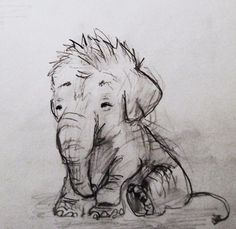 I know I can sketch and this elephant is adorable, but not the Bubble elephant in my cartoon on youtube