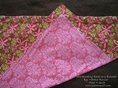 Piece N Quilt: Self Binding Receiving Blanket Tutorial