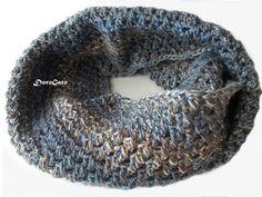 Tutorial crochet scarf Crochet Infinity scarf by PatternsDG