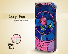 Belle Beauty and the Beast Rose iPhone 5 Stained glass look Disney phone case!