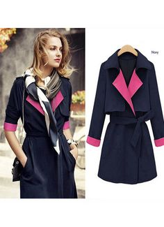 Lapel Double Breasted Woolen Thick Jacket Coat