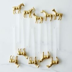 pony drink stirrers - perfect for the Kentucky Derby!