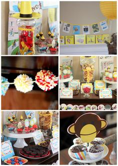 curious george baby shower/birthday party, man with the yellow hat treats   kojodesigns