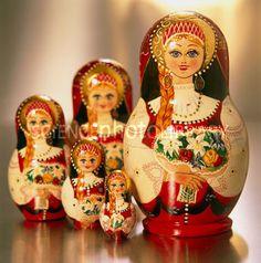 Babushka Dolls....wonder what ever happened to ones I had like this??