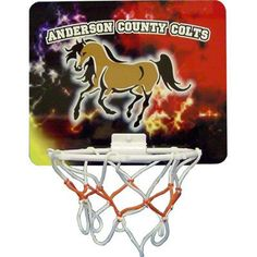 """$12.00 Unisub™ Hardboard Mini Basketball Goal -6"""" plastic hoop, Velcro Tabs, 7"""" X 9"""", Imprint with logos and create an advertising gem for your clientele."""