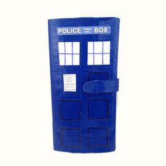 Doctor Who TARDIS Duct Tape Clutch from PyrateWench on Etsy