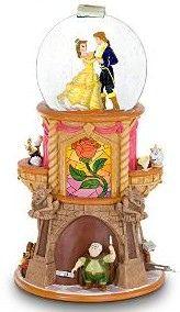 Belle and Prince Adam Snow Globe