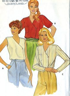 Vintage 80s Butterick 4290 UNCUT Misses by RomasMaison on Etsy