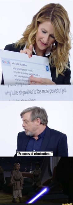 """Why is Luke Skywalker the most powerful Jedi?"" ""Process of elimination."""