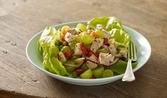 Chicken Salad With Grapes, Grape Salad, Dairy Free Recipes, Healthy Recipes, Rotisserie Chicken, Serving Plates, How To Cook Chicken, Healthy Fats, Finger Foods