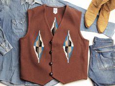 【限定色】オルテガ 手織りチマヨ・ベスト 83RG-4446 サイズ44 ミディアムブラウン