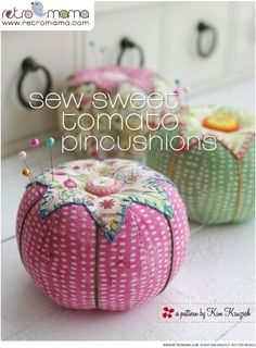 Retro mama garden girls tomato pincushions more sewing box, sewing notions, Sewing Box, Sewing Notions, Sewing Kits, Hand Sewing, Diy And Crafts Sewing, Fabric Crafts, Sewing Hacks, Sewing Projects, Patchwork Quilt