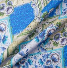 A lightweight blue floral and patchwork printed soft lavender linen. This woven linen is ideal for casual tailoring as well as for skirts and dresses and available in a variety of colours and patterns. Pink Blue, Lilac, Lavender, Printed Linen, Decorative Boxes, Floral Prints, Colours, Pure Products, Scrappy Quilts