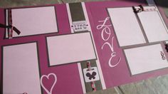 Love 12x12 premade scrapbook layout