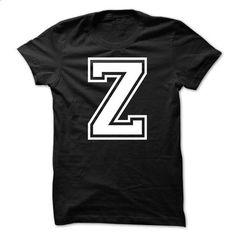 Letter Z Tshirt Name Initials Design - #softball shirt #tshirt bag. I WANT THIS => https://www.sunfrog.com/LifeStyle/Letter-Z-Tshirt-Name-Initials-Design.html?68278