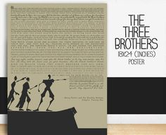 THIS IS THE STORY OF THE 3 BROTHERS TOLD ON AN 18X24 INCH POSTER. THIS LISTING IS FOR ONE 18X24 INCH POSTER. (FRAME NOT INCLUDED. Print Only!) PRINTED WITH HIGH QUALITY BEAUTIFUL INK THAT WILL LAST FO