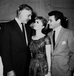 Clark Gable with Debbie Reynolds and Eddie Fisher.