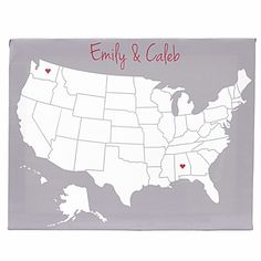 """""""A State of Love"""" Personalized Gallery-Wrapped Canvas 