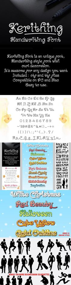 Kerithing Font+Styles+Silhouettes. Script Fonts. $8.00