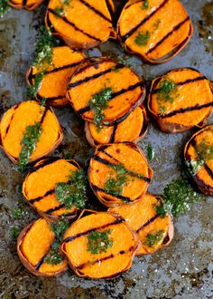 STYLECASTER | Vegetarian BBQ Ideas | Grilled Sweet Potatoes with Cilantro Vinaigrette