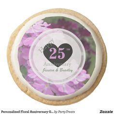 Personalized Floral Anniversary Gourmet Cookies