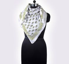 This Hand Block Print Cotton Scarf in Flower Design is a great addition to your collection of fashion accessories, stylish and versatile, thin and light weight. Perfect for spring to fall seasons, brings you simple & effortless fashion. This makes an excellent gift on any occasion.