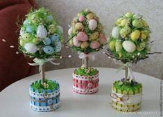 """Милые сердцу штучки: """"Пасхальные и цветочные топиарии"""""""