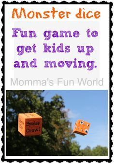 Momma's Fun World: Fun games for Kids Halloween party-monster dice, moving game Halloween Torte, Halloween Class Party, Halloween Games For Kids, Fun Games For Kids, Halloween Birthday, Halloween Activities, Diy Halloween, Monster Games For Kids, Kid Games