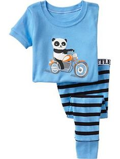 Panda-Motorcycle PJ Sets for Baby | Old Navy