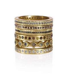 Stacked wedding ring gold