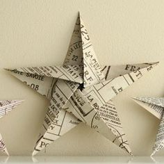 How to Make a Star Christmas Tree Ornament - Step by Step Homemade Paper Crafts