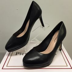 NWT Pierre Dumas Black Pumps Work in style! Featuring an almond toe and half in platform, you will feel comfy with the 3' heel. Instant fav! Pierre Dumas Shoes Heels