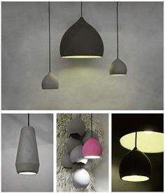 lights made by air drying cellulose - Ett la Benn Furniture Decor, Furniture Design, Concrete Light, Paper Light, Light Fittings, Lampshades, Lamp Design, Lamp Light, Home Art