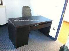 ikea malm office desk assembled in anne arundel county MD by Furniture assembly Experts LLC - Call 2407052263