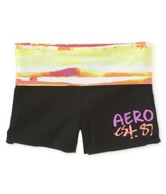 Gradient Colorblock Knit Yoga Shorts - Aeropostale  xs