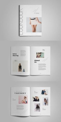 Designed using Adobe Indesign format. Clean, simple and minimalist. Each page features unique layouts with contemporary tipography. All text can be edited and Portfolio Design Layouts, Book Portfolio, Mise En Page Portfolio, Book Design Layout, Print Layout, Template Portfolio, Indesign Portfolio, Typography Design Layout, Lookbook Design