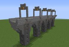 Railroad Stone Bridge - GrabCraft - Your number one source for MineCraft buildings, blueprints, tips, ideas, floorplans! Minecraft Poster, Video Minecraft, Minecraft Plans, Amazing Minecraft, Minecraft Survival, Minecraft Crafts, Minecraft Tutorial, Minecraft Memes, Minecraft Logo