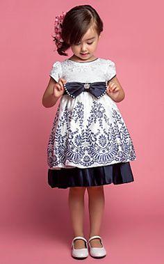 A-line/Princess Jewel Chá de comprimento Patten vestido da menina flor