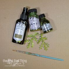 Tattered Angels Paints, Mistable Papers, Sizzix Dies to create DIY Christmas Trees and Greenery
