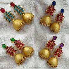 Latest Model Imitation Jhumka Designs, Latest Stone Jhumka Designs